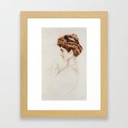 PAUL CESAR HELLEU (FRENCH 1859-1927) The Coquette Framed Art Print