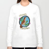 otters Long Sleeve T-shirts featuring Otterly Brilliant by Kittymacdraws