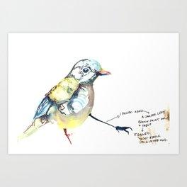 I Painted a Bird Art Print