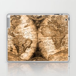 World Map Antique Vintage Maps Laptop & iPad Skin