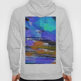 Art Abstraction 1E by Kathy Morton Stanion Hoody