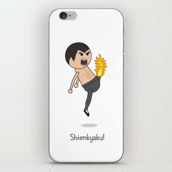 Shienkyaku! Flame Kick! iPhone & iPod Skin