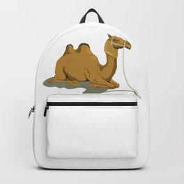 Sitting Camel Illustration Backpack