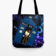Tardis in space Doctor Who 10 Tote Bag