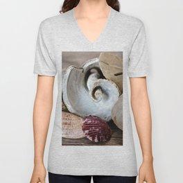Seashell Still Life Unisex V-Neck