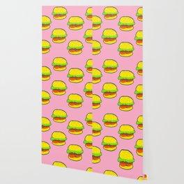 Yogurt Burger Pattern Wallpaper
