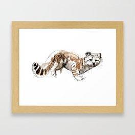 Totem Andean cat (AGA) Framed Art Print