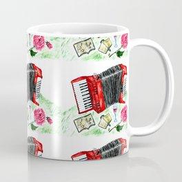 Retro red accordion Coffee Mug