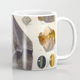 The Mineral Kingdom by Dr. Reinhard Brauns, 1903. Germany. Beautiful Gems Mineral Jewels Coffee Mug