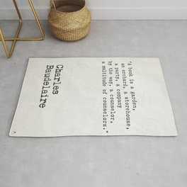 Charles Baudelaire quote about books Rug