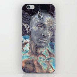 BLUE DEVIL iPhone Skin