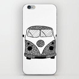 Black and White Combi Van iPhone Skin