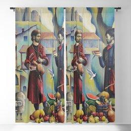 Teimuraz Kharabadze - Old Tbilisi Painting Blackout Curtain