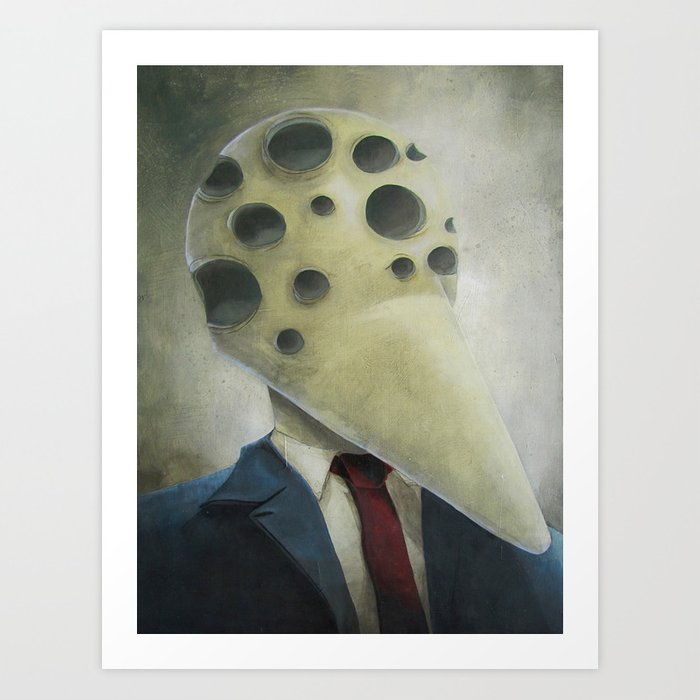 Has Many Eyes But Knows No Truth Art Print