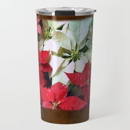 Mixed color Poinsettias 1 Blank P3F0 Travel Mug