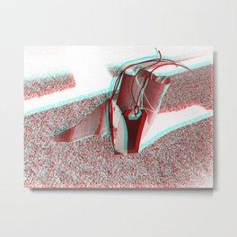 Dream Spaceship ver. `2  (3-D) Metal Print