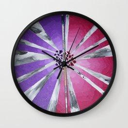 Violet 'n Violence Wall Clock