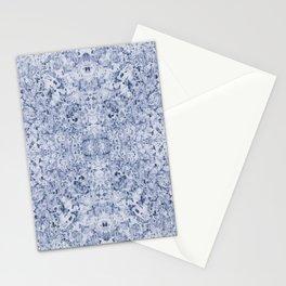 Blue watercolour kaleidoscope pattern Stationery Cards