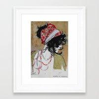 gypsy Framed Art Prints featuring gypsy by LouiJoverArt