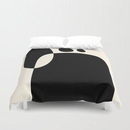 shapes black white minimal abstract art Duvet Cover