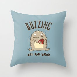 Buzzing off the Brew Throw Pillow