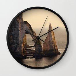 Etretat at morning sun Wall Clock