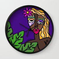african Wall Clocks featuring African beauty by Andrea Silvestri