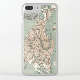 Map of Venice - 1886 Clear iPhone Case