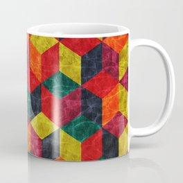 Colorful Isometric Cubes IV Coffee Mug