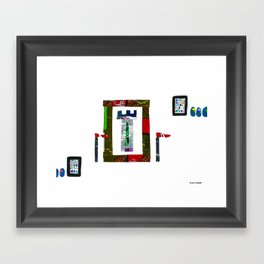 history, people, and vending machines, i Framed Art Print