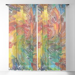 Upright Stained Twist Sheer Curtain