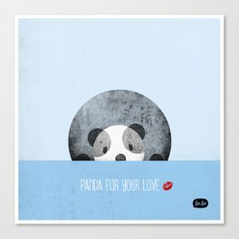 Panda for your love Canvas Print
