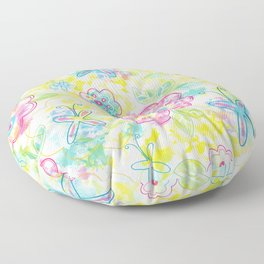 Watercolor spring pattern Floor Pillow