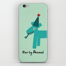 Party Animal-Teal iPhone & iPod Skin