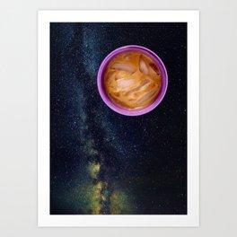 Purple Iced Coffee Planet Art Print