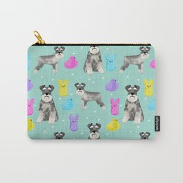 Schnauzer dog breed peeps marshmallow easter spring dog pattern gifts schnauzers Carry-All Pouch