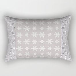 Lacy Mocha Pattern with Creamy Chenille Stars Rectangular Pillow