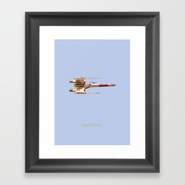 X-wing Framed Art Print