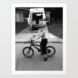 Boy on Bike in Mississippi Art Print