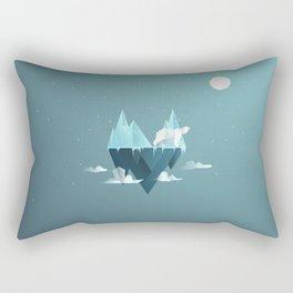 Low Poly Polar Bear Rectangular Pillow