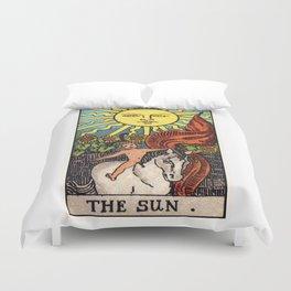XIX. The Sun Tarot Card Duvet Cover