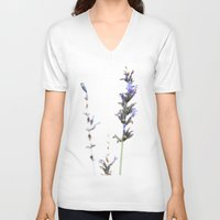 lavender V-neck T-shirts featuring Lavender by Renee Ansell
