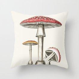 The Real Mushroom Throw Pillow