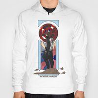 winter soldier Hoodies featuring Art Nouveau Winter Soldier by Totally Bucky