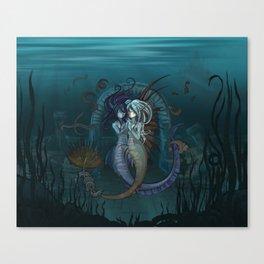 Fantasy style Anime / Manga mermaids Canvas Print