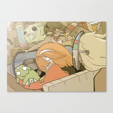 On the Road 5: Something is weird Canvas Print