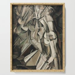 Nude Descending A Staircase No. 2 - Marcel Duchamp - 1912 Serving Tray