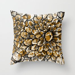 Moroccan Sunflower Throw Pillow