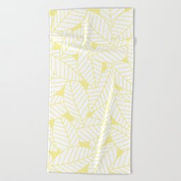 Leaves in Daisy Beach Towel