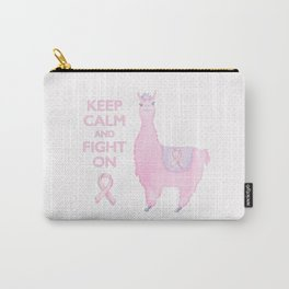 Llama for the Cure: Keep Calm and Fight On Carry-All Pouch